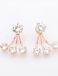 Women's European Style Fashion Elegant Shiny Zircon Stud Earrings