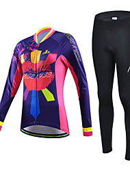 CHEJI Bike/Cycling Arm Warmers / Jersey / Jersey + Pants/Jersey+Tights / Clothing Sets/Suits Women's Long SleeveBreathable / Ultraviolet