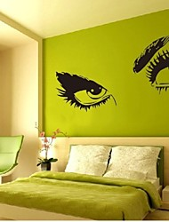 European style Hepburn's eyes bedroom decoration wall stickers