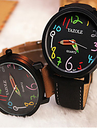 YAZOLE Watches Fashion Round Colour Digital Men's Watches Analog Quartz Wristwatch Gift idea Wrist Watch Cool Watch Unique Watch