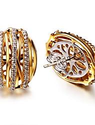 Top Quality vintage stud earrings Deluxe Prong Setting Cubic Zircon Brass Bridal Earrings Jewelry Lead Free