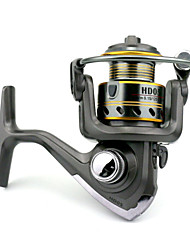 7 BB Spinning Reels Gear Ratio 5.2:1 Metal Spinning Fishing Reel HD05 Random Colors