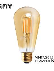 1 шт. GMY E26 3W 4 COB ≥300 lm Тёплый белый ST21 edison Винтаж LED лампы накаливания AC 110-130 V