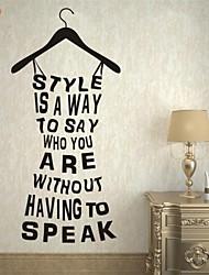 Parole e citazioni / Fashion Adesivi murali Adesivi aereo da parete,PVC M:42*91cm/ L:55*119cm