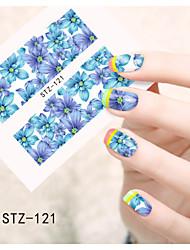 Tecknat / Blomma / Vackert-Finger / Tå-Nagelsmycken- avAndra-1pcs- styck6.5*5.5cm- cm