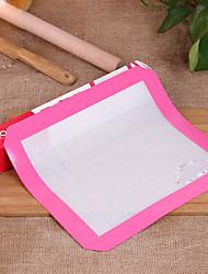 Heat Resistant Non-stick FDA Silicone Fiberglass Baking Mat (random color)