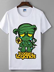 лол лига легенд древесины дерева коллекция серия косплей футболки герои союза хлопок лайкра