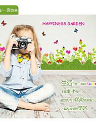 Животные / ботанический / Цветы / Пейзаж Наклейки Простые наклейки,pvc 50*70cm