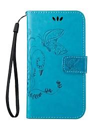 Pour Samsung Galaxy Coque Portefeuille Porte Carte Avec Support Clapet Coque Coque Intégrale Coque Fleur Cuir PU pour SamsungJ5 (2016)