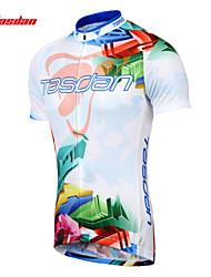 TASDAN® Велокофты Муж. Короткие рукава Велоспорт Дышащий / Быстровысыхающий / Впитывает пот и влагу Джерси / Джерси + велошорты100%