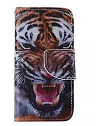 Pour Coque iPhone 5 Portefeuille / Avec Support / Clapet Coque Coque Intégrale Coque Animal Dur Cuir PU iPhone SE/5s/5
