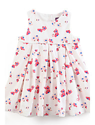 Girl's Dress,Cotton Summer White