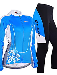 NUCKILY Bike/Cycling Jersey + Pants/Jersey+Tights / Arm Warmers / Clothing Sets/Suits Women's / Men's Long SleeveBreathable / Insulated /