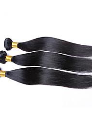 """1pcs / lot precio barato 8 """"-26"""" virginales brasileñas tramas del pelo recto natural negro 1b # mechones de cabello humano"""