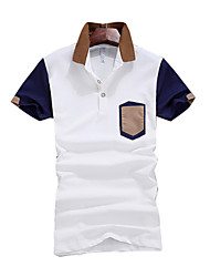 2016 new summer fashion color shirt blouse T-shirt Lapel Polo men's fashion business