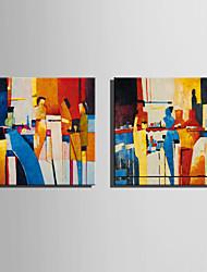 Peint à la main Personnage / FantaisieStyle européen Un Panneau Toile Peinture à l'huile Hang-peint For Décoration d'intérieur