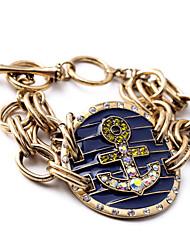 Bracelet- enAlliage / Zircon Cubique-Vintage-Lien / Chaîne