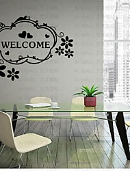 Welcom Wall Sticker, Mural Decal Cabinet Furniture Door Window Paster Art Home Kitchen Decor Living Room Bedroom