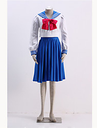 Inspired by Sailor Moon Sailor Mercury Anime Cosplay Costumes Cosplay Suits Print Blue Coat / Top / Skirt / More Accessories