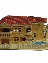 Puzzles Puzzles 3D / Puzzles en bois Building Blocks DIY Toys Maison Bois Beige Maquette & Jeu de Construction