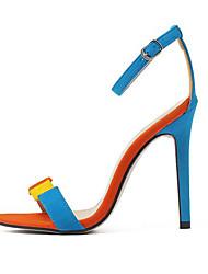 Women's Shoes Fleece Stiletto Heel Open Toe Sandals Party & Evening / Dress Multi-color