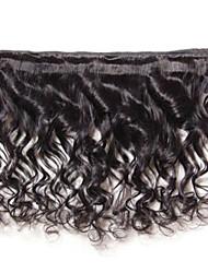 venda quente 400g muito 8-26inch cabelo virgem brasileira onda solta cor preta cabelo humano / raw tece atacado.