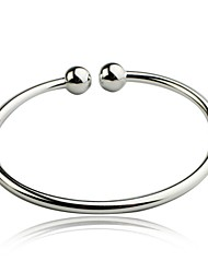 925 bracelet en argent sterling simple, l'ail