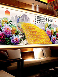 DIY 5D Diamonds Embroidery  Mosaic Peacock Peony Magic cube Round Painting Cross Stitch Kits rich flowers