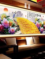 DIY 5d Diamanten Stickerei Mosaik Pfau Pfingstrose Zauberwürfel runden Malerei Kreuzstich Kits reichen Blumen