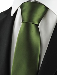 New Solid Militery Green Men Tie Suit Necktie Formal Wedding Holiday Gift KT1013