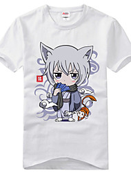 Inspired by Kamisama Kiss Tomoe Anime Cosplay Costumes Cosplay T-shirt Print Black Short Sleeve T-shirt