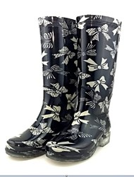 Women's Spring / Summer / Fall / Winter Rain Boots Silicone Outdoor Flat Heel 2# / 1#