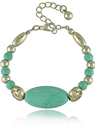 The Original Simple Folk Style Turquoise Flower All-Match Bracelet