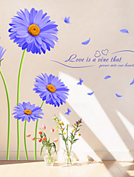Floral Stickers muraux Stickers avion,PVC 60X90X0.1