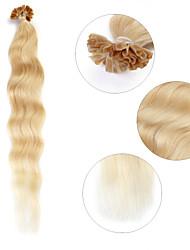 """neitsi 20 """"1 г / с кератином слияние у прибить наконечник естественная волна 100% человеческих волос расширения 24 #"""