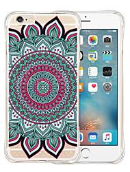 Pour Coque iPhone 6 Coques iPhone 6 Plus Antichoc Transparente Motif Coque Coque Arrière Coque Mandala Flexible Silicone pouriPhone 6s