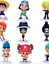 il 69 generazione 9 famiglia ritratto del cappello di paglia pirati 9 persona versione di assemblaggio del modello