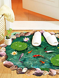 3D Wall Stickers Wall Decals Fish Ponds Feature Removable Washable PVC