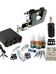 Basekey Tattoo Kit JH559  1 Rotary  Machine With Power Supply Grips 3x10ML Ink