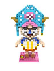 синий / розовый ABS Строительные блоки DIY игрушки