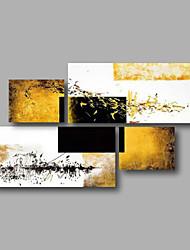 """esticado (pronto para pendurar) pintura a óleo pintados à mão 56 """"x32"""" arte da parede da lona sumário moderno casa deco"""
