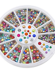 Fashion Mix-colors Nail Rhinestones Acrylic Nail Art Decoration For UV Gel Iphone and laptop DIY Nail tools