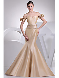 Formal Evening Dress Trumpet/Mermaid Sweetheart Sweep/Brush Train Taffeta