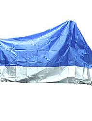motocicleta moto capa de chuva impermeável anti uv pó azul proteção xl