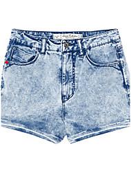 Mètres / bonwe Femme Taille Haute Shorts / Jeans Bleu / Gris / Bleu foncé Pour tous les jours Pantalon-254733