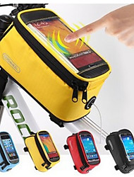 Roswheel Size L Bicycle Front Bag  Phone Case for Phone Bike Bag Touch Screen MTB Mountain Road Cycling Bag