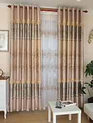 Deux Panneaux Moderne Vin Comme image Salle de séjour Polyester Rideaux occultants rideaux