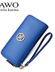NAWO Women Cowhide Wallet Blue-N353171