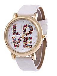 Women's  Fashion Personality Quartz  Leather Lady Watch