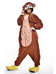 Kigurumi Pijamas nueva Cosplay® Mono Leotardo/Pijama Mono Festival/Celebración Ropa de Noche de los Animales Halloween Marrón RetazosLana